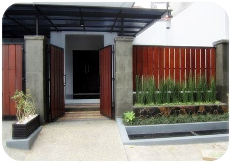 pagar kayu minimalis ide desain rumah diy rumah diy