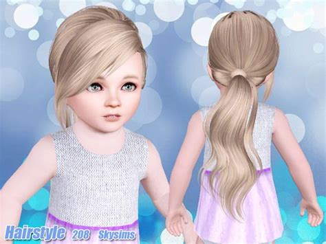 sims 3 toddler hair skysims hair toddler 208 k sims 3 pinterest