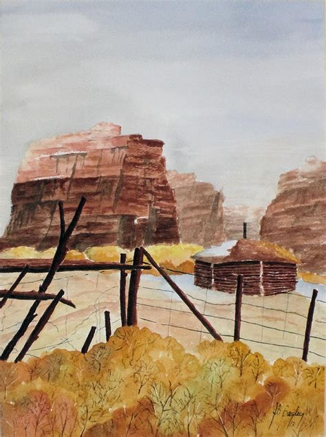 Navajo Hogan Floor Plans canyon de chelly painting by james s bagley
