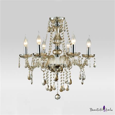 Buy Clear Crystal Beads Strands Cascades 6 Light Chandelier Strands