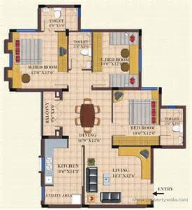3 Bhk Floor Plan by Landmark Dreamz Homes Abbigere Bangalore Residential