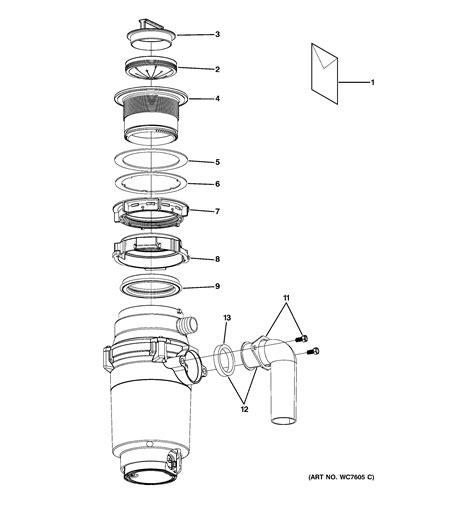 ge garbage disposal sink flange ge model gfc320v garbage disposal genuine parts