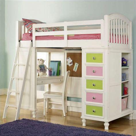 White Loft Bed by 20 Charming Selections Of White Loft Beds With Desk