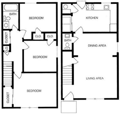 3 bedroom townhouse plans 1 2 and 3 bedroom apartments in richmond va floor plans