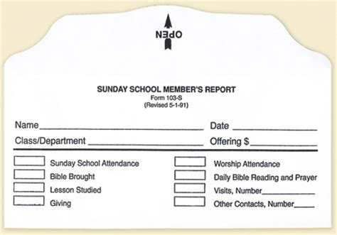 report card envelope template sunday school member report envelope bill size form