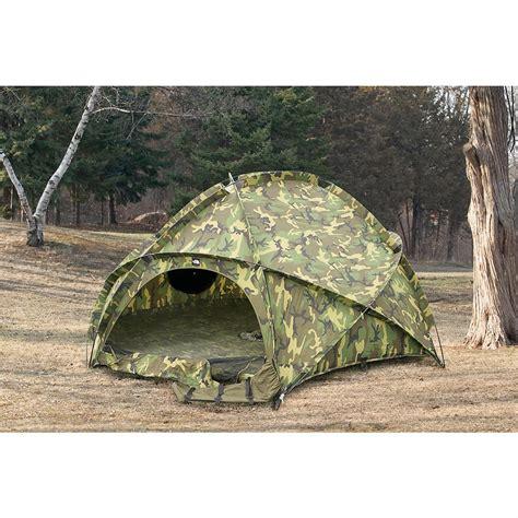 used u s military ecws dome tent woodland camo 124320