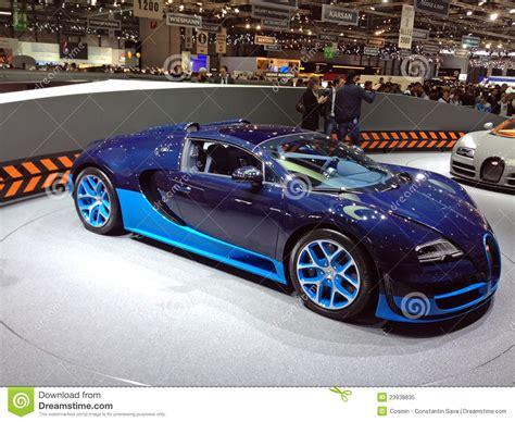 blue bugatti veyron editorial image image 23938835
