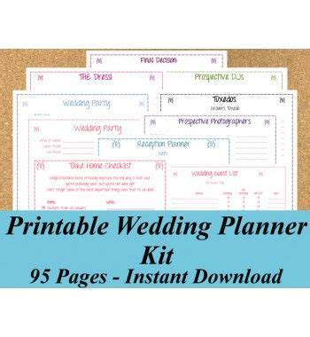 free printable wedding planning kit 1000 images about misc on pinterest to be wedding and keys