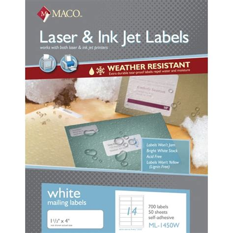 maco laser and inkjet labels template label supply hut