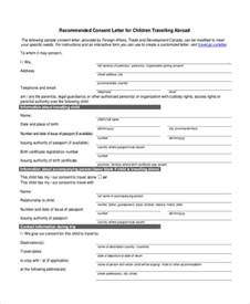 Consent Letter For Minor Visa sample child travel consent form 8 free documents in pdf doc