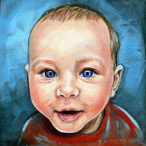 painting baby new portrait painting a bright baby