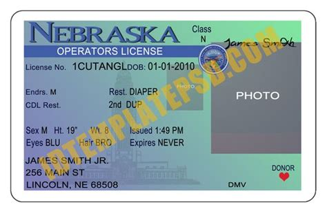 state drivers license templates bing images