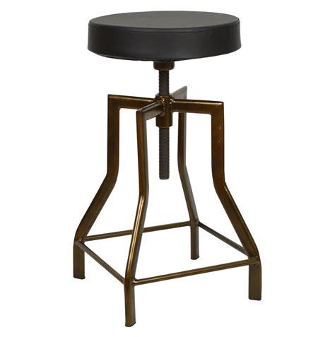 taburete regulable taburete regulable industrial vintage asiento polipiel