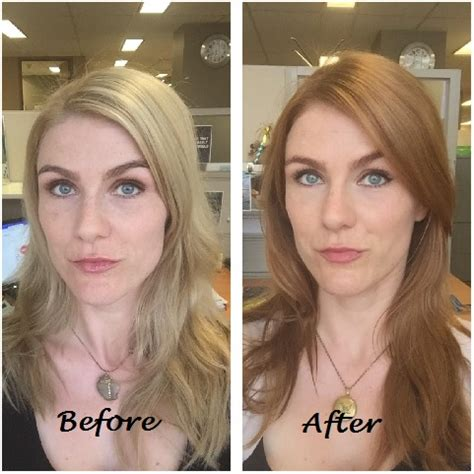before vs after colour correction i did on my client going from brown to blonde before and after www pixshark