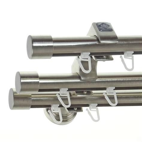 gardinenstange innenlauf 2 laufig edelstahl innenlauf edelstahl look gardinenstange dm 20mm 3 l 228 ufig
