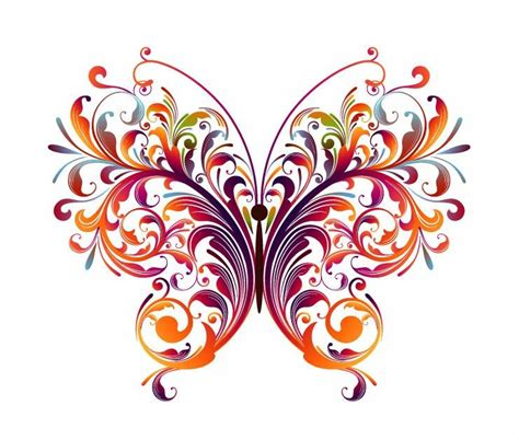 free vector graphics clipart abstract designs to draw abstract floral butterfly