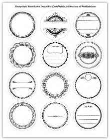 Circle Label Template Free by Labels In A Vintage Style Design Worldlabel