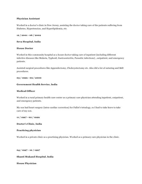 resume cv candidate 2894 experienced board certified family practice