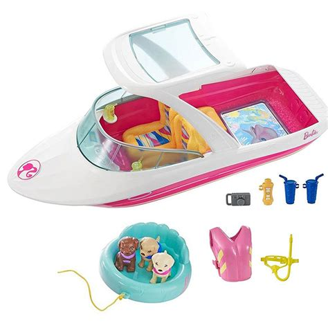 barbie boat with puppies doll barbie dolphin adventure ocean view boat 306152