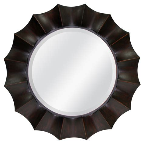 oil rubbed bronze bathroom mirror shop allen roth oil rubbed bronze beveled round wall