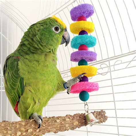 parakeet swing pet bird parrot swing toys cage chew bite parakeet