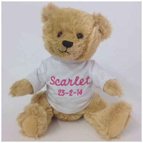 personalised teddy bear by pink pineapple home gifts