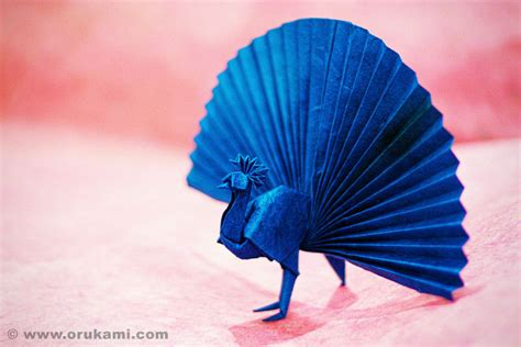 How To Make A Origami Peacock - yoshizawa origami peacock www orukami