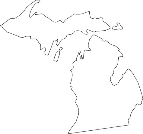 Outline Of Michigan State by Printable Us State Maps Printable State Maps