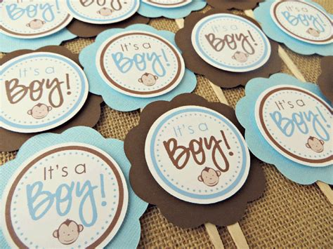 Baby Monkey Decorations Baby Shower by Monkey Baby Shower Cupcake Toppers