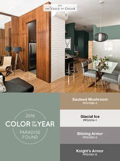 the ppg voice of color 174 2016 paint color of the year paradise found is featured in this kitchen