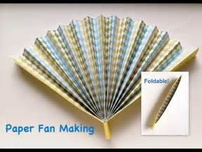How To Make A Paper Fan For - paper fan easy tutorial fan that can fold