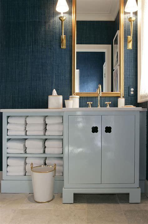 Blue bathroom vanity jamie drake simplified bee