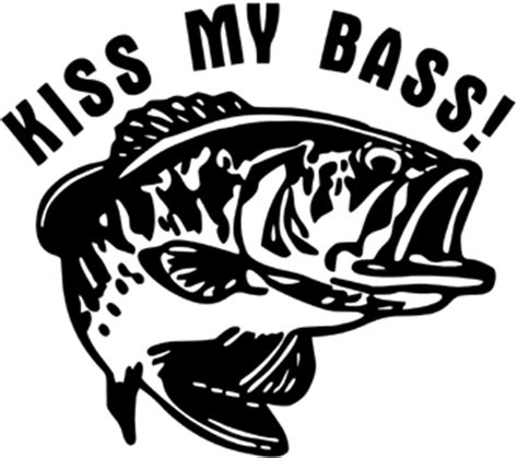 bass pro shop boat hook kiss my bass decal