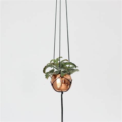How To Make A Macrame Hanging Planter - aena copper hanging planter modern macrame hanger with