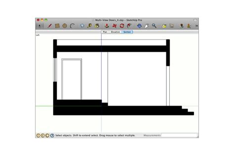 sketchup layout ortho making doors look right in different ortho views