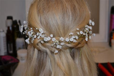 Wedding Hairstyles With Gypsophila by Based Getting Married In Cornwall Let Us