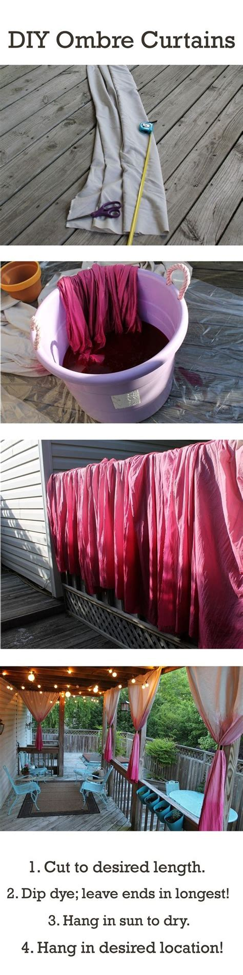 diy ombre curtains diy ombre curtains for our back porch click image to