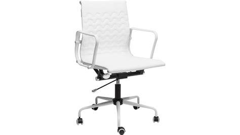 chaise de bureau blanche design achetez votre chaise de bureau 224 roulettes design blanche