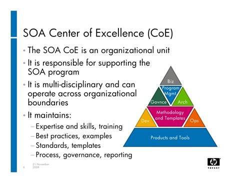 center of excellent successfully establishing a soa center of excellence