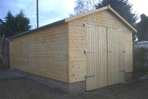 Wood Garage by Wooden Garage Workshop 12x8