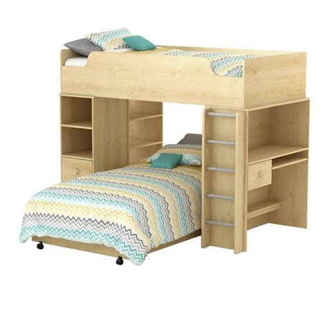 home depot bed south shore logik collection loft bed natural maple the