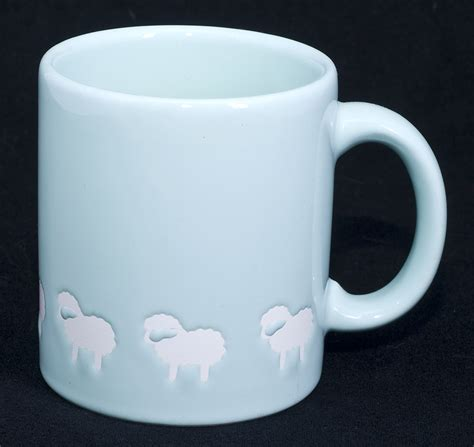 japanese coffee mugs le chat noir boutique waechtersbach sheep mint green