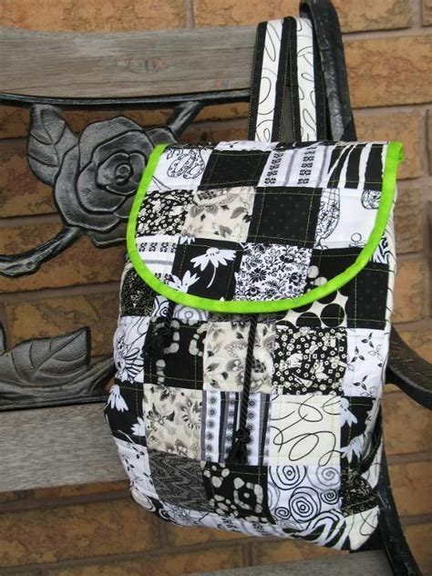 Easy Patchwork Bag Patterns - patchwork backpack pdf sewing pattern how to sew easy