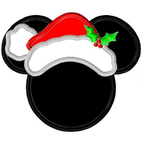 mickey mouse santa hat with lights 111 best disney inspired embroidery appliqu 233 images on