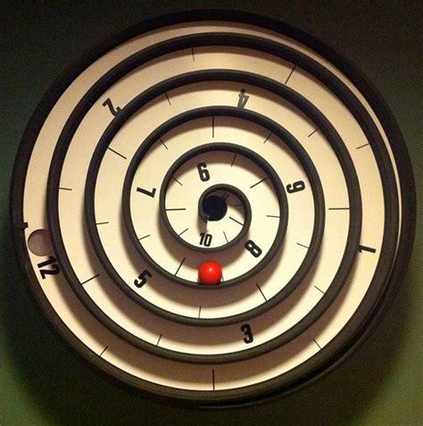 spiral clock face cool stuff pinterest spiral clock twirls time into view technabob