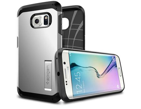 Spigen Capsule Samsung Galaxy S6 Edge Softcaserugged Diskon 1 spigen samsung galaxy s6 edge tough armor cover satin silver price review and buy in