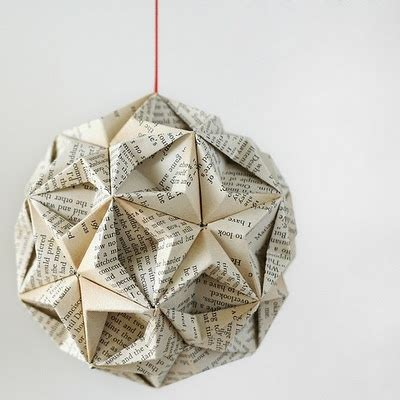 Origami Bauble - paper bauble crafts i rather enjoy