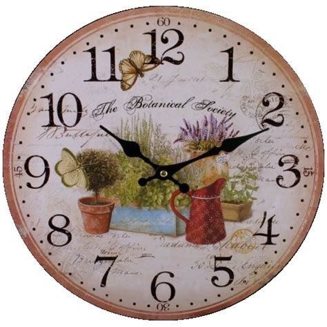 Large Kitchen Wall Clocks by Garden 75711 Large Rustic Retro Kitchen Wall Clock 34cm