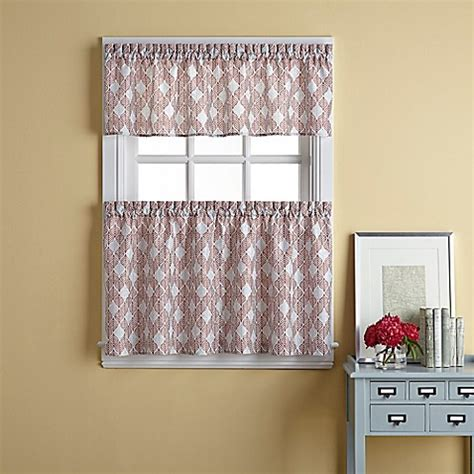 curtains for 36 inch window buy palmer 36 inch window curtain tier pair in spice from