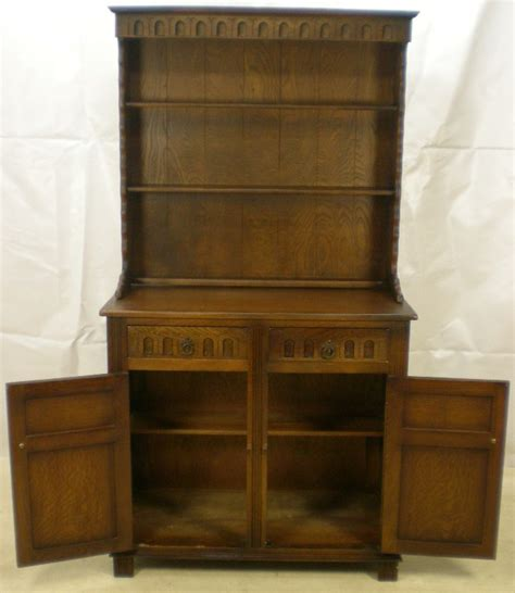 Styles Of Antique Dressers by Antique Style Oak Dresser With Plate Rack